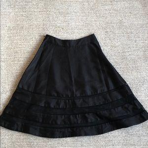 Cythnia Rowley black skirt with mesh details